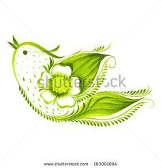 vector illustration in petrikovka style