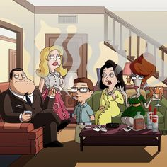A combination of American Dad and Mad Men all together. American Dad Funny, American Dad Roger, American Girls, Good Morning Usa, America Dad, Family Guy Quotes, Famous Cartoons, Adult Cartoons, Cartoon Shows