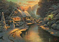 Amazon.co.jp | 西洋絵画 トーマス キンケード クリスマスの風景 42x30cm [並行輸入品] | ホビー 通販