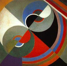 Obra de Robert e Sonia Delaunay, que junto com outros artistas fundaram o Orfismo, um movimento artístico baseado no cubismo, mas mais focado em formas abstratas e grande diversidade cromática.