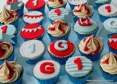 Beach/carnival/fair/ birthday cupcakes available from www.lydiasbakehouse.co.uk