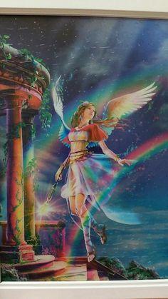 Clear Pieces Jigsaw Puzzle Iris Greek Mythology Fantasy Fairy Art for sale online Fairy Pictures, Angel Pictures, Beautiful Fantasy Art, Beautiful Fairies, Fantasy Artwork, Iris Goddess, Ange Demon, Fantasy Kunst, Angel Art