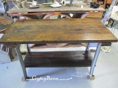 mechanics table to kitchen island, diy, how to, painted furniture, woodworking projects, The finished product