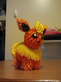 3D Origami Flareon by ~pokegami on deviantART