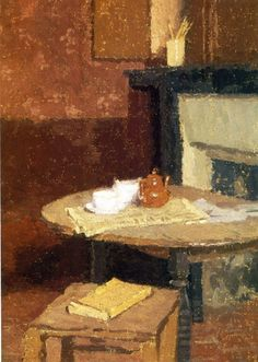 The Brown Tea Pot by Gwen John circa Gwen John, Blog Art, Art Nouveau, Post Impressionism, Inspiration Art, Tea Art, Art Database, Klimt, Painting & Drawing