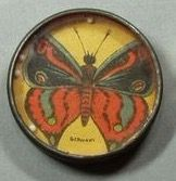 butterfly dexterity puzzle, vintage game, insect