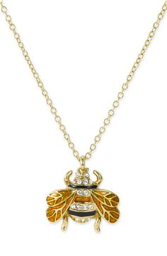 kate spade new york kate spade 'queen bee' pendant necklace available at #Nordstrom