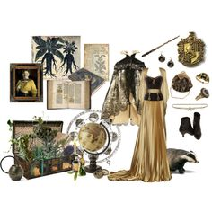 """Hufflepuff - Yule Ball"" by flanerie on Polyvore"