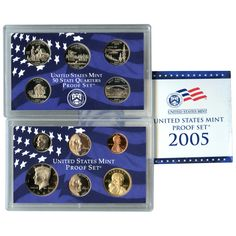 2005-S 11-Coin Proof Set including 5 State Quarters and 2 Commemorative Nickels