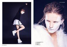 White - Photographed by Igor Pavlov  Stylist Olga Bobrova Makeup Nika Kislyak  Model Nikola Romanova