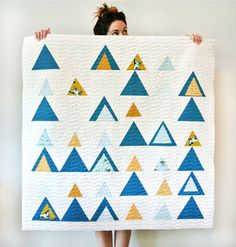Montana Mountains Baby Quilt
