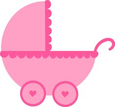 baby clipart girl cute pink baby carriage free clip art family rh pinterest com baby shower clipart girl border baby shower clipart girl border