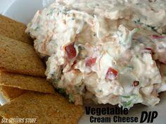 Skinny Veggie Cream Cheese Dip from sixsistersstuff.com #dip #creamcheese #sidedish