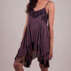Free People Pieced Lace Slip Dress