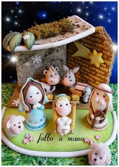 Christmas Story , polymer clay decoration
