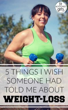 A reader shares the five things she wishes she'd known when she started losing the weight. | Fit Bottomed Girls #totalbodytransformation