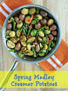 Hun... What's for Dinner?: Spring Medley Creamer Potatoes