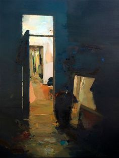 Interior #122. Oil on wood, 90 x 60 cm *SOLD*