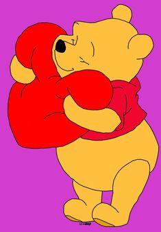 Winnie The Pooh Valentine by on DeviantArt Winnie The Pooh Cartoon, Winnie The Pooh Drawing, Winne The Pooh, Cute Winnie The Pooh, Winnie The Pooh Quotes, Winnie The Pooh Friends, Draw Disney, Disney Drawings, Disney Art