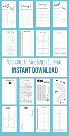 Bullet Journal Pages Bujo, Bullet Journal Template, Printable Calendar, 2018 Cal… – Calendar Template İdeas. Bullet Journal Tracker, Bullet Journal Template, Bullet Journal Planner, Bullet Journal Printables, Planner Book, Weekly Planner, Books To Read Bullet Journal, Journal Pages Printable, Planner Organization