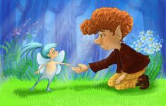 Little fairy by balgeza on DeviantArt Stories For Kids, Digital Illustration, Fairy, Illustrations, Deviantart, Stories For Children, Illustration, Illustrators, Angel
