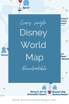 Disney World Map 2021 [Resorts, Theme Parks, Disney Springs, and More] - Planning The Magic Disney World Map, Walt Disney World Vacations, Disney Trips, Disney Parks, Disney On A Budget, Disney Vacation Planning, Disney World Planning, Budget Travel, Travel Ideas
