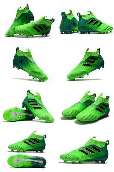adidas ACE 17+ Purecontrol Tacos FG Hombre Bota - Verde Negro