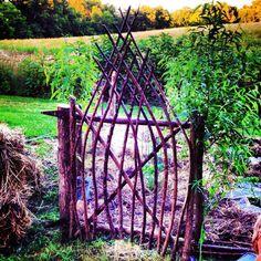 Willow garden gate
