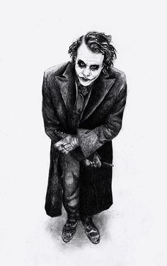 Joker he's the only reason why I watched the Batman movie O Joker, Heath Ledger Joker, Joker Art, Joker And Harley Quinn, Joker Images, Joker Pics, Comic Kunst, Comic Art, Joker Kunst