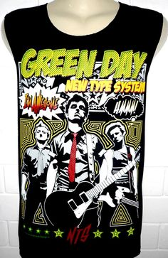 Green Day Awesome Metal Rock Band Music Metal T Shirt Tank Top Singlet Vest Size M