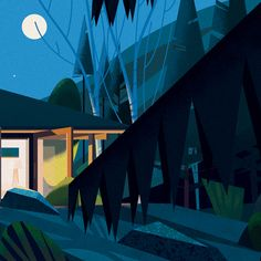 Bunch of crop on illustrations created for a big book on cabins published by Taschen. Book release on October 21, 2014. Full project is coming soon !