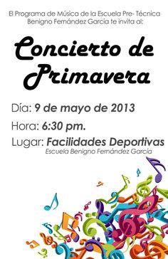 Concierto de Primavera @ Facilidades Deportivas Escuela Benigno Fernández García, Cayey