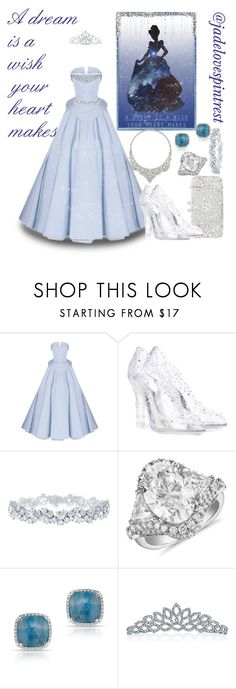 """Cinderella"" by jadelovespintrest ❤ liked on Polyvore featuring Christian Siriano, Natasha, Dolce&Gabbana, Harry Winston, Blue Nile, Anne Sisteron, Bling Jewelry, Kate Marie and David Webb"