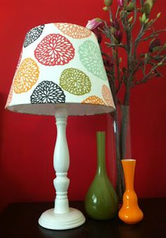lampshade covered in Jiah's Elke fabric