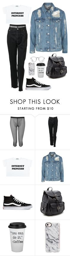 """""""Untitled #176"""" by blvckcreature ❤ liked on Polyvore featuring Boohoo, Vetements, Topshop, Vans, Forever 21, Casetify and Ray-Ban"""