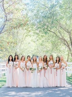 Lady Liberty Events - Blushing Bridesmaids Braedon Flynn Photography See more here: http://www.LadyLibertyEvents.com