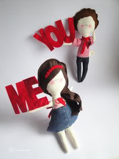 Valentine's day lover  Girl with YOU  Handmade
