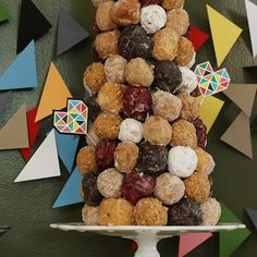Donut Hole Tower - yum