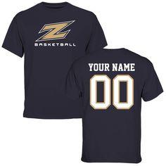 Akron Zips Personalized Basketball T-Shirt - Navy https://www.fanprint.com/licenses/akron-zips?ref=5750