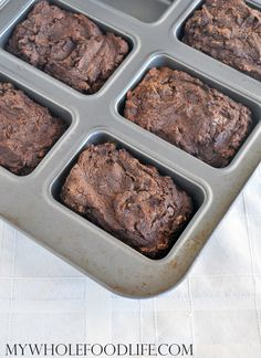 Get your chocolate and pumpkin fix on with these Chocolate Pumpkin Mini Loaves. These are vegan and gluten free. Make them in under 25 minutes.