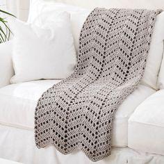 Bernat® Maker Home Dec™ Ripples in the Sand Crochet Afghan