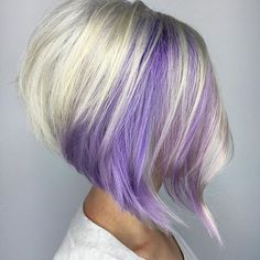 Icy blonde and pretty purple are quite the treat!! #behindthechair #headrushdesignsbyjulieann #joicocolorintensity