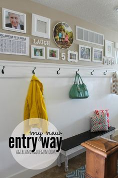 my new entryway diy hooks and ledge! really easy peasy! a girl and a glue gun