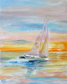 Sailboat Painting by A Texas Artist Laurie Pace and posting of the winner of the painting -- Laurie Justus Pace