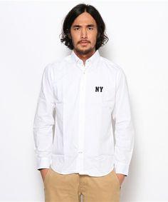 NAVAL Select(ナバルセレクト)のNYワッペンシャツ(シャツ・ブラウス) ホワイト