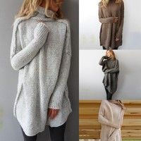 Get really cozy in this oversized turtleneck!