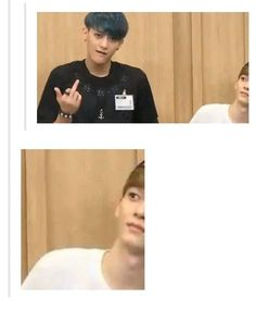 chen face looks like : tao what are you doing ??