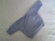 Ravelry: Baby Kimono pattern by Elizabeth Jarvis - Free pattern Knitting For Kids, Baby Knitting Patterns, Baby Patterns, Crochet Baby, Knit Crochet, Knitted Baby, Baby Kimono, Maila, Toddler Sweater