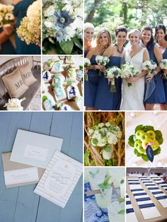 same color of the bridesmaid dresses, pretty with the combo of white,green and a little blue