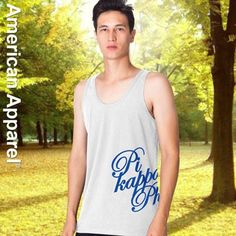 This tank comes with Phi Delta Theta written out in the location and scripted font shown in the picture. Add this customized tank to your Greek clothing collection today by shopping with Something Greek. Lambda Chi Alpha, Sigma Alpha Epsilon, Alpha Fraternity, Delta Chi, Theta Xi, Sigma Chi, Greek Shirts, Sorority Outfits, Greek Clothing